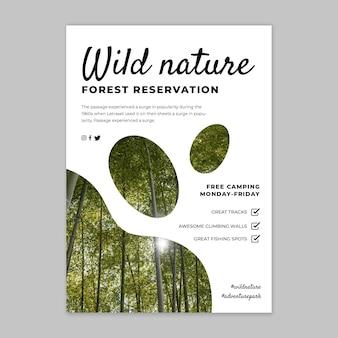 Sjabloon voor folder over wilde natuur
