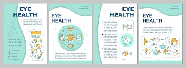 Sjabloon voor folder van de gezondheid van het oog. behoud van een goed zicht en gezonde ogen.
