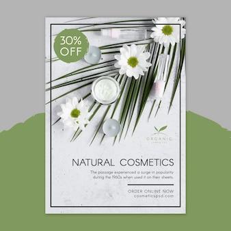 Sjabloon voor folder van natuurlijke cosmetica