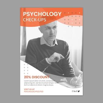Sjabloon voor folder van psychologie kantoor