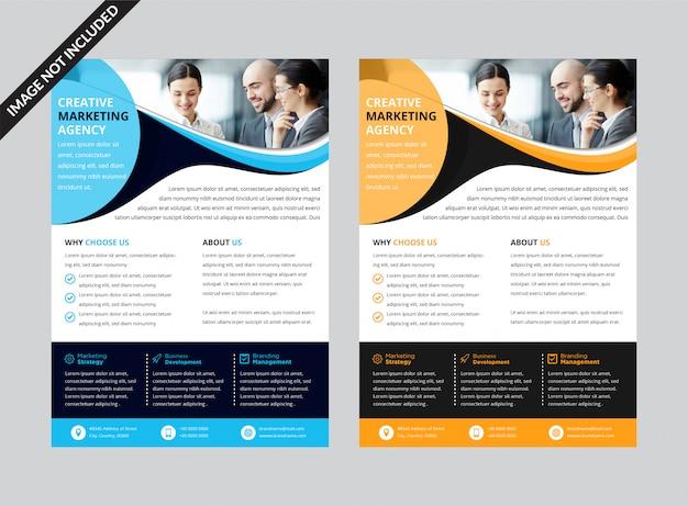 Sjabloon voor fotografische marketingflyer