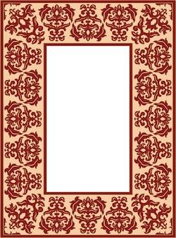 Sjabloon voor frame, kaart, rand. vectorpatroon met plaats voor uw tekst.