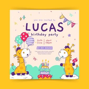 Sjabloon voor gelukkige verjaardagsuitnodiging