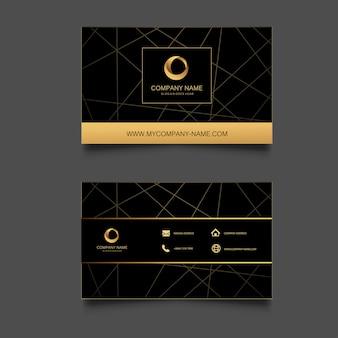 Sjabloon voor geometrische achtergrond visitekaartjes.