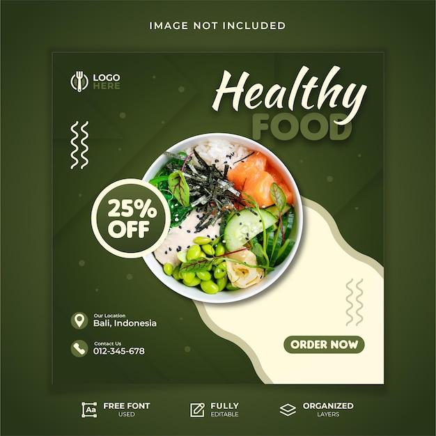 Sjabloon voor gezond eten social media post post