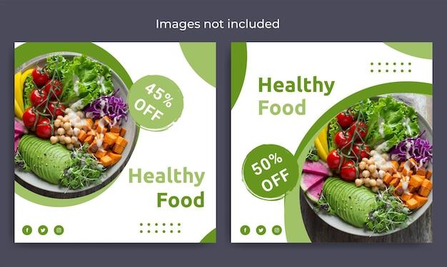 Sjabloon voor gezonde voeding voor sociale media