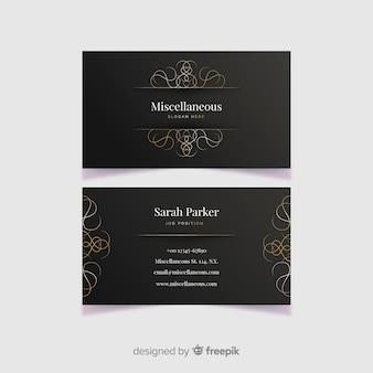 Sjabloon voor gouden sier visitekaartjes