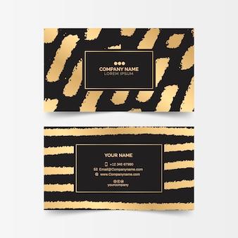 Sjabloon voor gouden vlekken-visitekaartjes