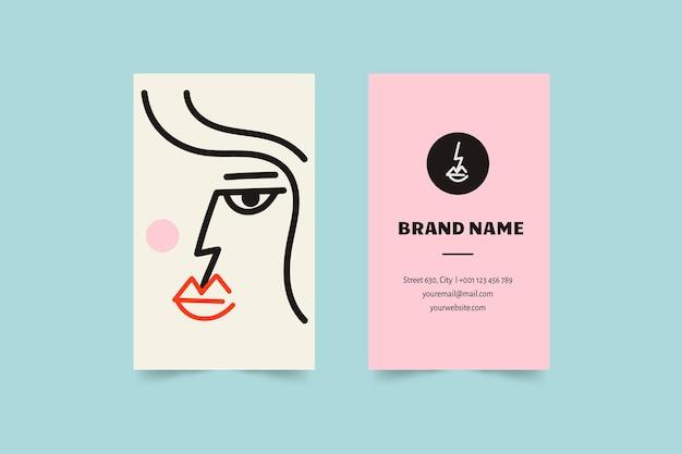 Sjabloon voor grafisch ontwerper grappige visitekaartjes