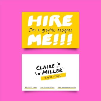 Sjabloon voor grappige grafisch ontwerper visitekaartjes