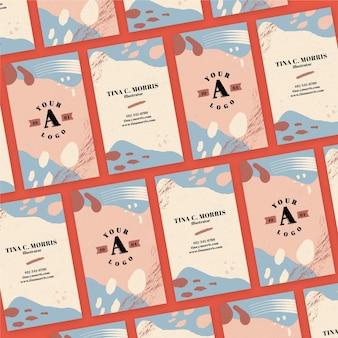 Sjabloon voor handgeschilderde visitekaartjes
