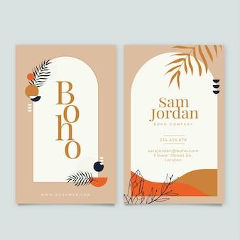 Sjabloon voor handgetekende boho-visitekaartjes