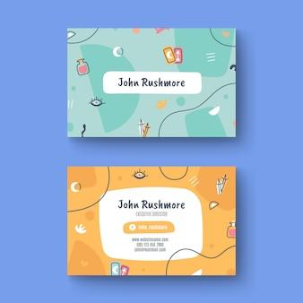 Sjabloon voor handgetekende visitekaartjes