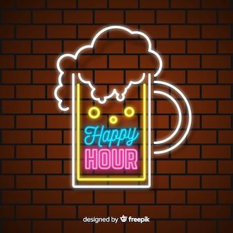 Sjabloon voor happy hour verkoopaanbieding