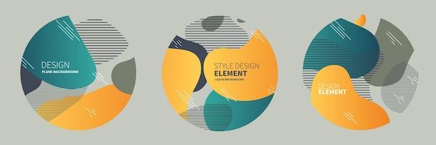 Sjabloon voor het ontwerpen van een logo-flyer of presentatie Premium Vector