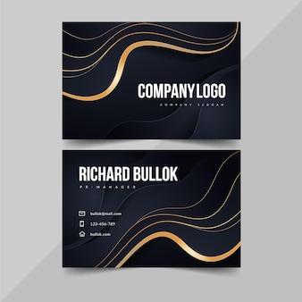 Sjabloon voor horizontale visitekaartjes met kleurovergang
