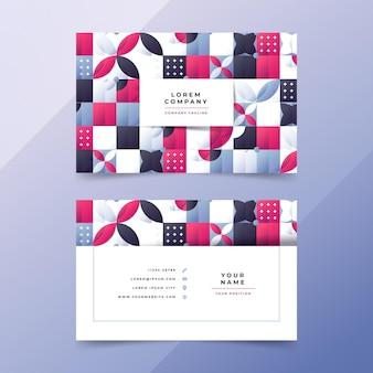 Sjabloon voor horizontale visitekaartjes met verloopmozaïek