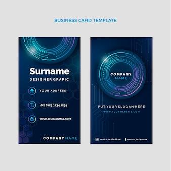 Sjabloon voor horizontale visitekaartjes met verlooptechnologie