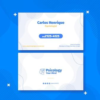 Sjabloon voor horizontale visitekaartjes psychologie