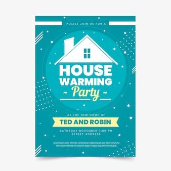 Sjabloon voor housewarming party uitnodiging