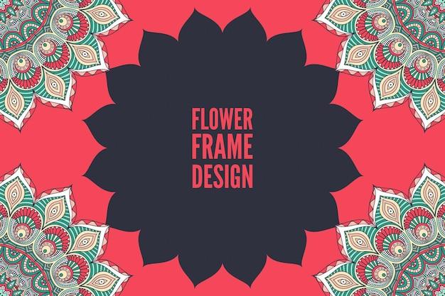 Sjabloon voor huwelijksuitnodiging met mandala-ontwerp