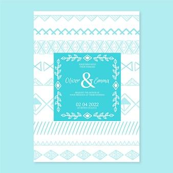 Sjabloon voor huwelijksuitnodigingen in boho-stijl