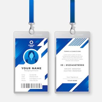 Sjabloon voor id-kaart van directeur