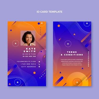 Sjabloon voor identiteitskaart met abstracte technologie met kleurovergang