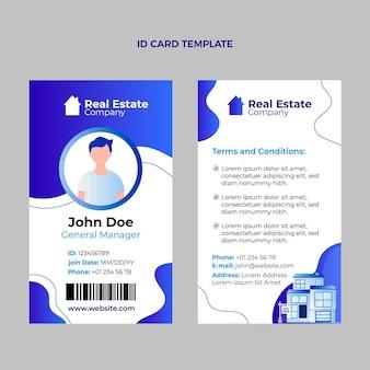 Sjabloon voor identiteitskaart met verloop voor onroerend goed