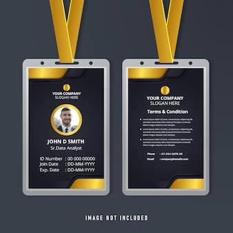 Sjabloon voor identiteitskaart voor werknemers