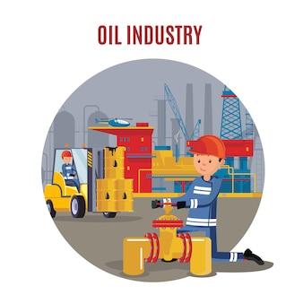 Sjabloon voor industriële petrochemische fabriek