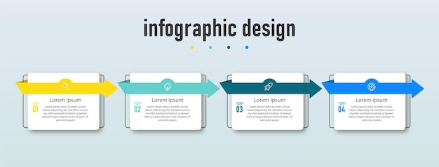 Sjabloon voor infographic-elementen ontwerpen