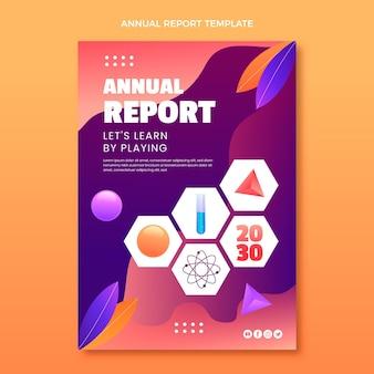 Sjabloon voor jaarverslag over gradiëntwetenschap