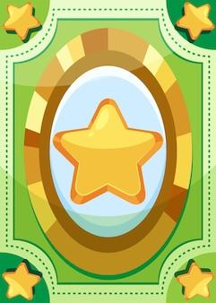 Sjabloon voor kaartspel met grote sterren