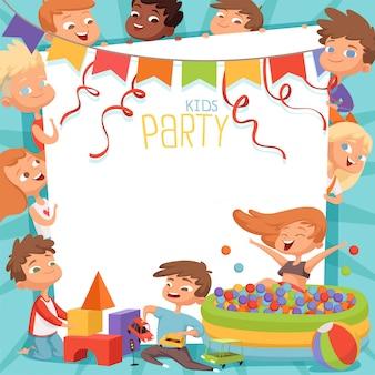 Sjabloon voor kinderfeest uitnodiging