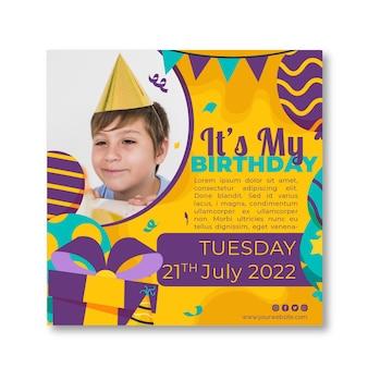 Sjabloon voor kinderverjaardag folder