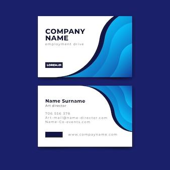 Sjabloon voor klassiek corporatief visitekaartje