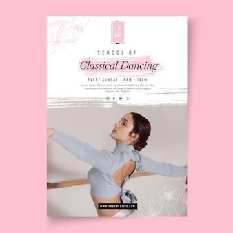 Sjabloon voor klassieke dansende posters