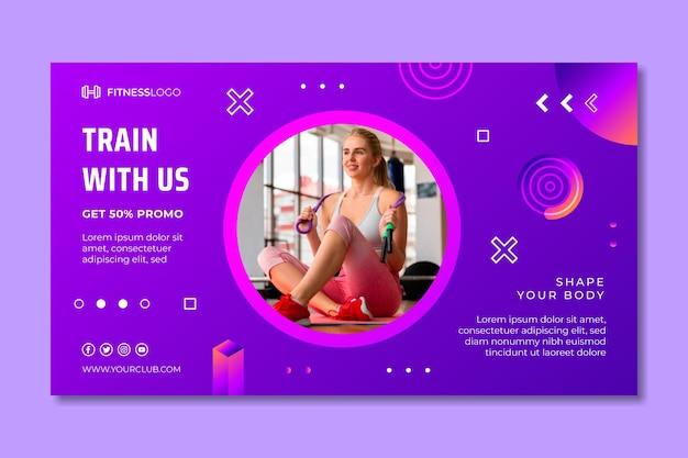 Sjabloon voor kleurovergang horizontale spandoek voor gymnastiektraining