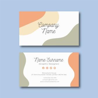 Sjabloon voor kleurrijk abstract visitekaartjes.