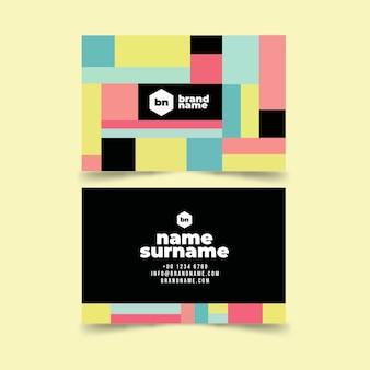 Sjabloon voor kleurrijk abstract visitekaartjes