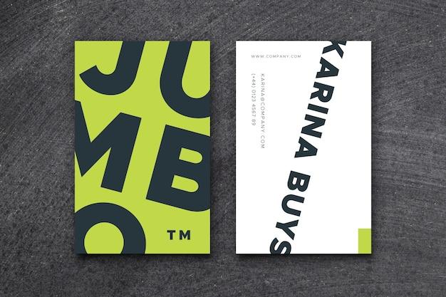 Sjabloon voor kleurrijk grafisch ontwerperadreskaartje