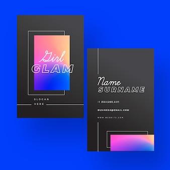 Sjabloon voor kleurrijk verloop visitekaartjes