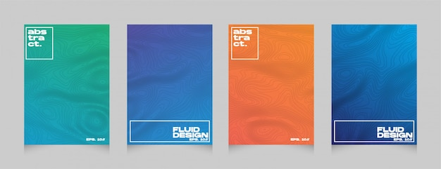 Sjabloon voor kleurrijke dekking van de gradiënt abstracte stijl kleurrijke