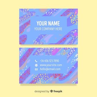 Sjabloon voor kleurrijke handgeschilderde visitekaartjes
