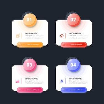 Sjabloon voor kleurrijke infographic elementen
