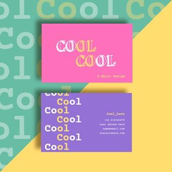 Sjabloon voor kleurrijke visitekaartjes