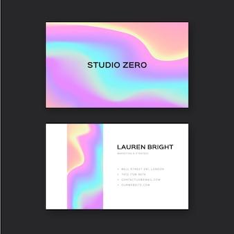 Sjabloon voor kleurrijke vloeibare visitekaartjes