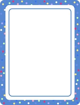 Sjabloon voor leeg blauw verticaal frame voor spandoek
