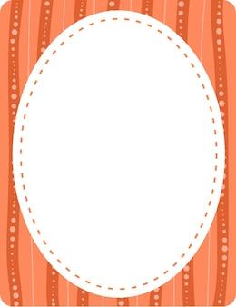 Sjabloon voor lege ovale vorm voor spandoek